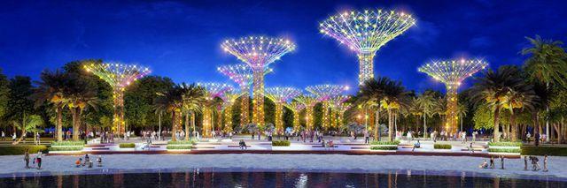 Công viên ánh sáng nghệ thuật trở thành điểm nhấn tuyệt đẹp của đại đô thị (Hình ảnh minh họa)