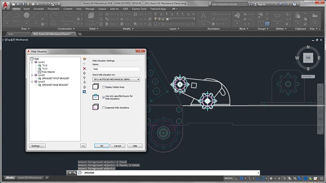 giao dien Autocad co khi