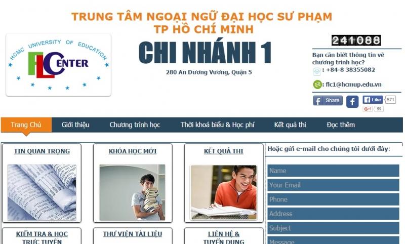 Trung tâm Ngoại ngữ Đại học Sư Phạm TP. HCM